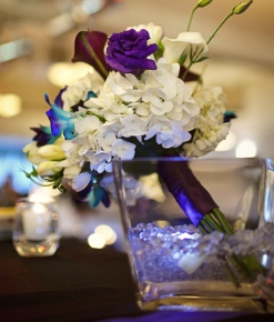 headtable bouquet vase