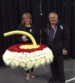 Super sized curling floral curling rock - $350.00