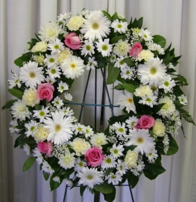 Daisy Pink Wreath - $195.00