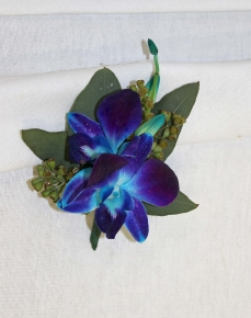 Blue Orchid Boutonniere - $18.00