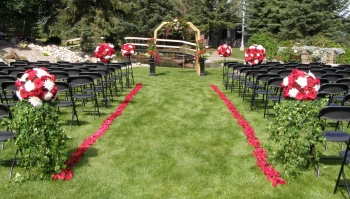 outdoor wedding isle