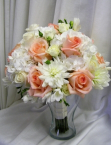 Bride in Peach Bouquet - $275.00
