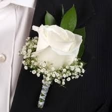Traditional Classy Rose Boutonniere - $25.00